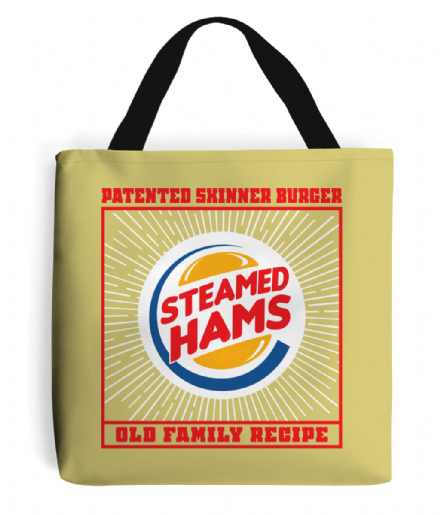 Skinner Burger Steamed Hams Simpsons Inspired Tote Bag